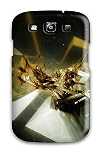 Galaxy S3 Hard Back With Bumper Silicone Gel Tpu Case Cover Artistic Abstract