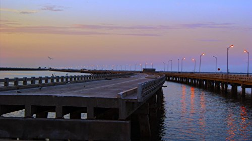Skyway Pier #4 in St. Petersburg, Florida Photographic Canvas Print (48x16)