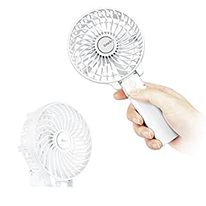 Mini Handheld Fan, EasyAcc Personal Cooling Fan with 2600mAh USB Rechargeable Battery 3-15 Working Hours Battery Fan…