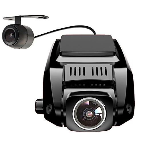 Pruveeo V7 2.4' LCD Full HD 1080P Dash Cam PRO Front and Rear Dual Camera, 170+90 Degrees Wide Angle Lens, Dash Cameras for Cars with Night Vision, Dashboard Camera Car Driving Recorder DVR