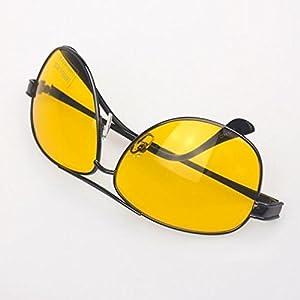 Navertu Night Driving Glasses Yellow Len Sunglasses Gun Frame
