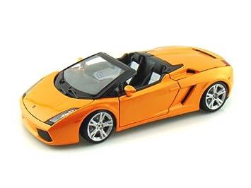 Bburago Lamborghini Gallardo Spyder 1 18 Orange Amazon Co Uk Toys