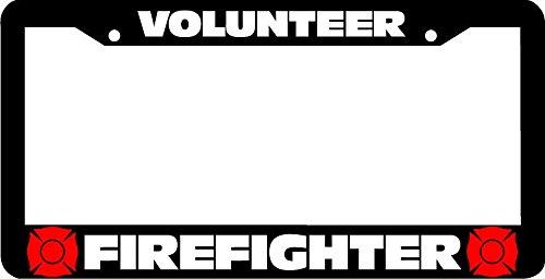 license plate frame firefighter - 3