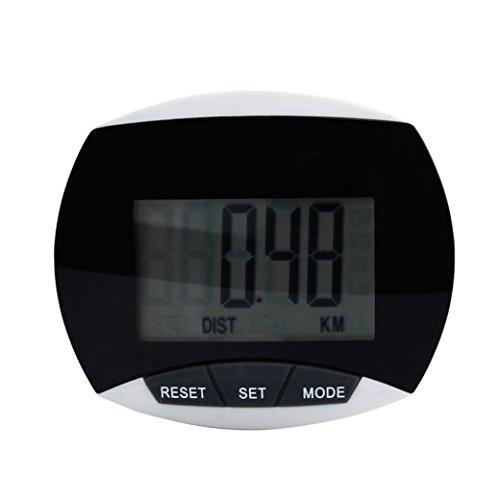 Perman Waterproof Digital LCD Run Step Pedometer Calorie Walking Distance - 7 day memory and Automatic sleep function - (Key Date Walking)