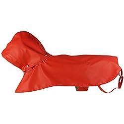 Dog Raincoat - Pawow Two-layer Fashion Pet Rainy Days Slicker with Hat for Big Dogs Golden Retriever Husky Samoye Pit Bull Doberman Pinscher Shepherd Dog Labrador Staffordshire Rottweiler Akita