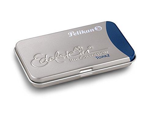 Pelikan Edelstein Ink Cartridges for Fountain Pens, Blue Topaz, 1.4ml, Pack of 6 (339655)