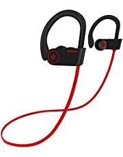 Bluetooth Headphones, Yuanguo IPX7 Waterproof Wireless Earphones Stereo Headset, CVC 6.0, 7-9 hours Playtime for Gym, Cycling, Sports Travelling, Build-in Microphone for Samsung ETC All Smartphone