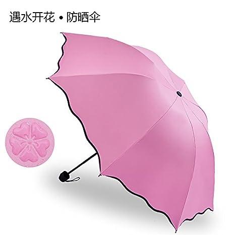 Paraguas Xiuxiutian Barómetro chica paraguas con doble filtro solar UV PARAGUAS paraguas paraguas