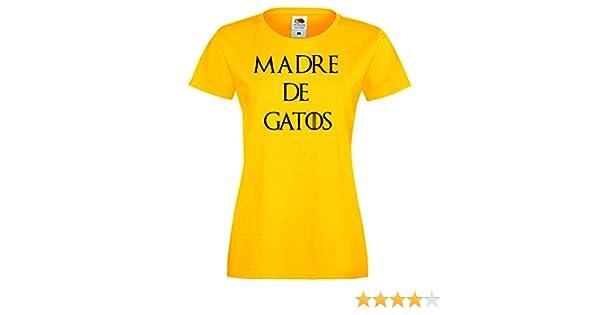 Camisetas divertidas Parent Madre de Gatos - para Mujer Camiseta: Amazon.es: Ropa y accesorios
