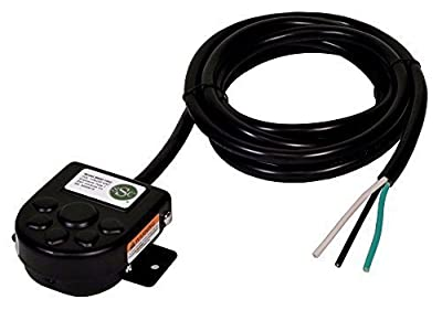SSC Controls B850-1502 Foot Switch with Mounting Plate, Momentary, Single Pedal, 8-ft Cable with Leads