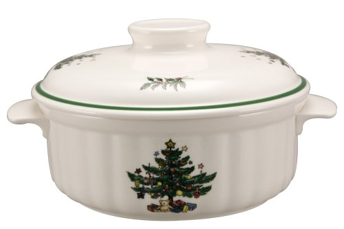 Nikko Christmas Ovenware 1.5 quart Casserole and (Nikko Christmas Tree)