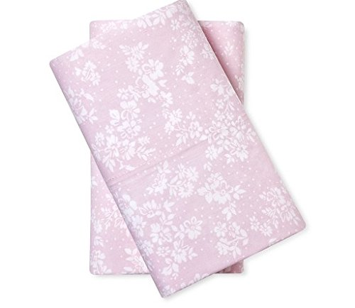 Simply Shabby Chic 2 King Pillowcases Floral Print Pink (Shabby Pillow Chic Simply)