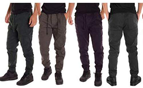 Cucitura Pantaloni Scuro Di Uomo Da Elastica Casual Huateng Con Verde Accog gOZqAY