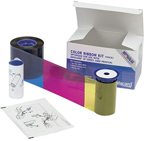 1 Case of 16 Ribbons YMCKF-KT Datacard Color Ribbon