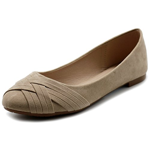 Ollio Women's Ballet Shoe Cute Casual Comfort Flat, used for sale  Delivered anywhere in USA