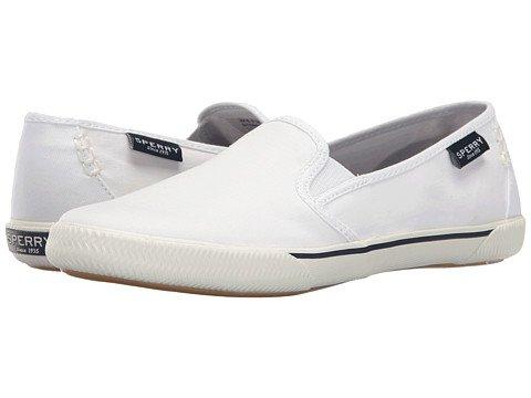 (スペリートップサイダー) SPERRY TOPSIDER レディースウォーキングシューズ?カジュアルスニーカー?靴 Quest Cay Canvas White 10 27cm M (B) [並行輸入品]