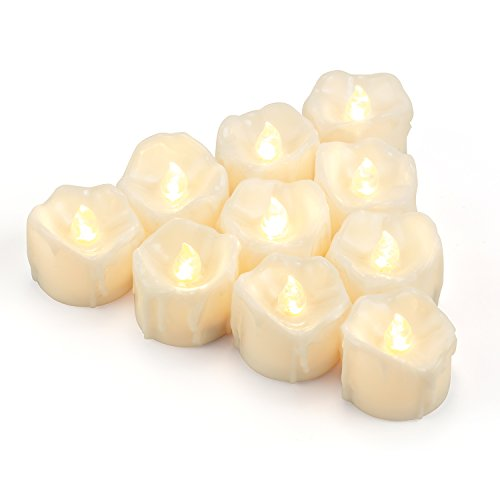 LED Tea Lights Candles, Kohree Flameless Candles Battery Operated LED Candles, Flickering Tealight Candles, Warm White, Pack of 12