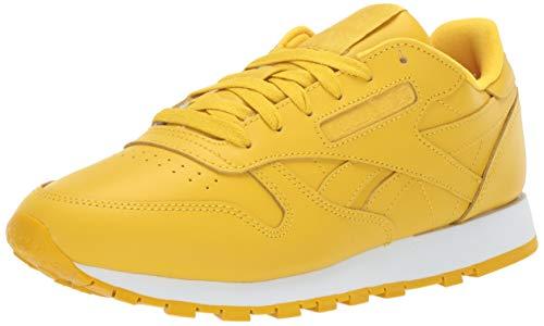 Reebok Women's Classic Leather Sneaker Urban Yellow/White 6 M US (Sneakers Women Yellow)