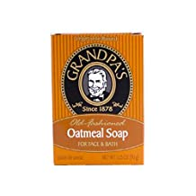 Pack of 8 x Grandpa's Oatmeal Bar Soap for Face and Bath - 3.25 oz