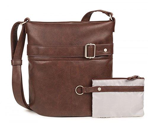 DOS KARLA K12 Bolso de bandolera XL Brown (Braun)