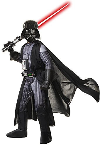 Darth Vader Light Up Costume (Star Wars Child's Deluxe Darth Vader Costume, Large)