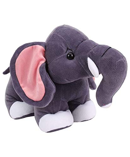 Future Shop Cute Standing Grey Elephant  30 cm, Grey