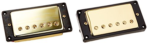 Kmise 1set Humbucker Pickup Gold for Gibson Les Paul Replacement