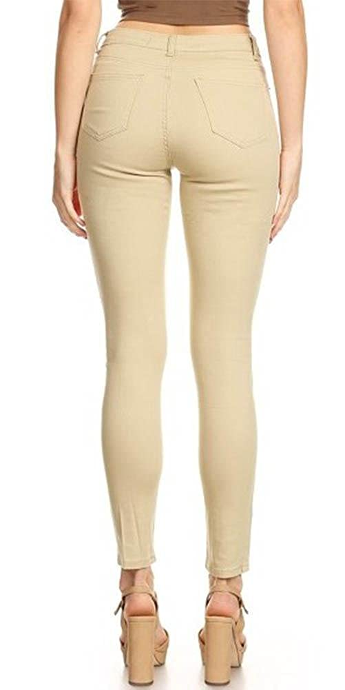 2a6a0e802d5d4 Monotiques Women s Casual Jeans Semi High Rise Solid 5 Pocket 30