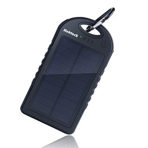 Nekteck Solar Charger 12000mAh Rain-resistant Dirt/Shockproof Dual USB Port Portable Charger Battery Backup Power...