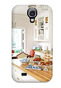 Hot Selling New Bright Kitchen With Pink Walls Stainless Appliances Crown Molding Amp Large Island Case Cover For Galaxy S4 With Wonderful Design