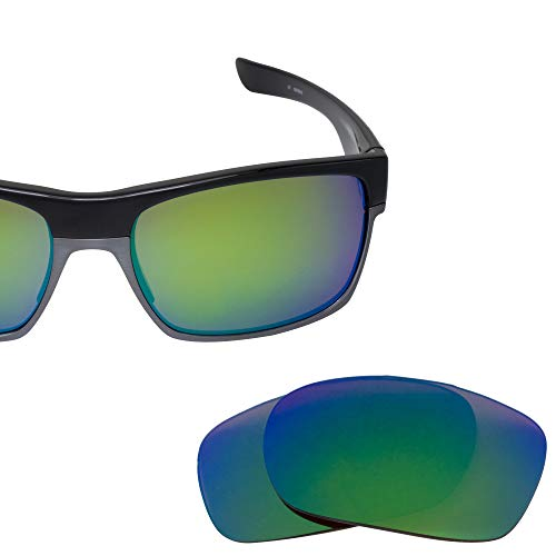 LenzFlip Replacement Lenses for Oakley TwoFace | Brown Polarized with Green Mirror | 100% UV ()