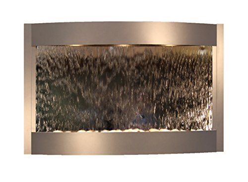 Calming Waters Water Feature with Silver Mirror (Silver Metallic) by Adagio Water Features