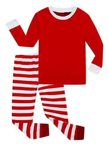 Family Feeling Big Girls Boys Matching Christmas Pajamas Sets 100% Cotton Sleepwears Kids Pjs Size 8 Striped