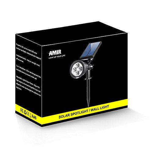 amir 2 in 1 solar spotlights