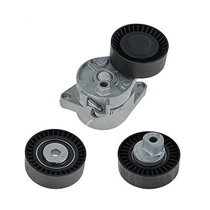 amazon com: hex autoparts belt tensioner w/idler pulley kit for bmw e36 e39  e46 e53: automotive