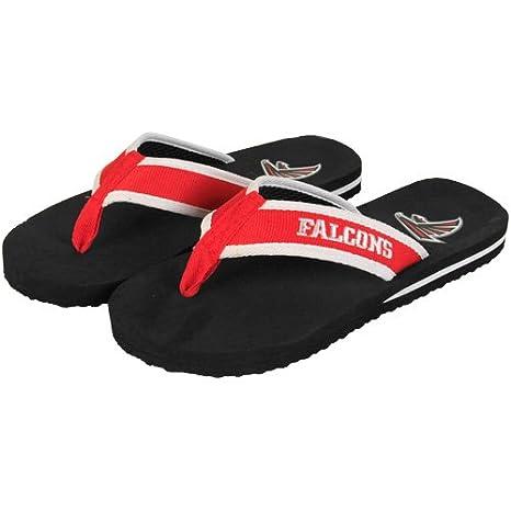 95fab4807 Amazon.com   NFL Atlanta Falcons Contoured Flip Flops - Black Red - (10 11)    Sports Fan Socks   Sports   Outdoors