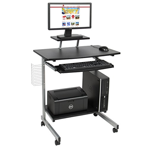 Best Choice Products Computer Desk Cart PC Laptop Table Study Portable Workstation Student Dorm Home Office