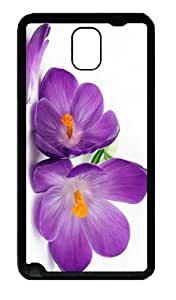 spec cover Beautiful Crocus TPU Black case/cover for samsung galaxy note 3 N9000