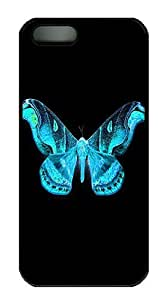 IMARTCASE iPhone 5S Case, King Priamos Butterfly PC Black Hard Case Cover for Apple iPhone 5s/5