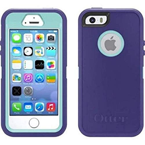 OtterBox Defender Series Case for iPhone 6S Plus and iPhone 6 Plus and Holster fits OtterBox Cover with iPhone Cable - Purple Teal (Purple Iphone Plus Otterbox 6)
