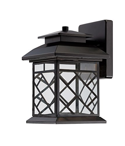Designers Fountain LED22321-ORB 6 1/2 Inch LED Wall Lantern, Oil Rubbed Bronze Finish with Clear Shade