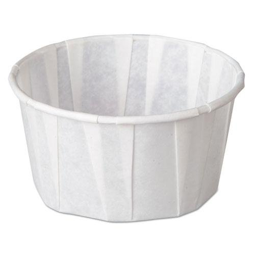 - Genpak GNPF400 Squat Paper Portion Cup Pleated 4 oz White 5000/Carton