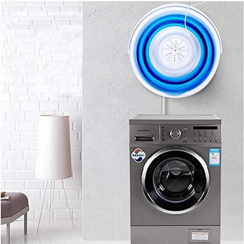 Winnes USB Faltende Waschmaschine Travel Camping Tragbare Mini Turbine Waschschaufel Reinigungsger/äte 12,60 x 12,60 x 9,84 Zoll Waschmaschine