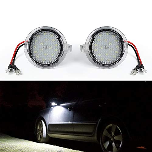 Gempro Pcs High Power Xenon White Led Under Side Mirror Puddle Light Lamp Assembly For Ford
