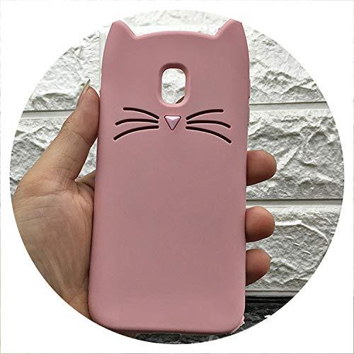 New Japan Cute 3D Glitter Beard cat Silicon Phone case for Samsung Galaxy J3 J5 J7 2017 EU J330 J530 J730 Unicorn Cartoon Cover,Pink cat,for Galaxy S8 Plus ()