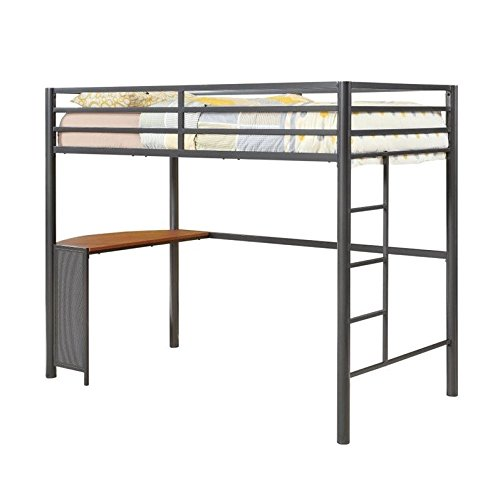 Coaster Home Furnishings  Modern Contemporary Metal Twin Workstation Loft Bunk Bed - Gunmetal