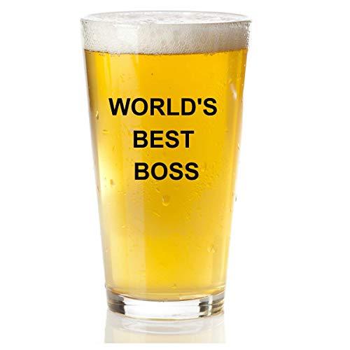 Worlds Best Boss Beer Glass - The Office Merchandise Michael Scott Funny Mug