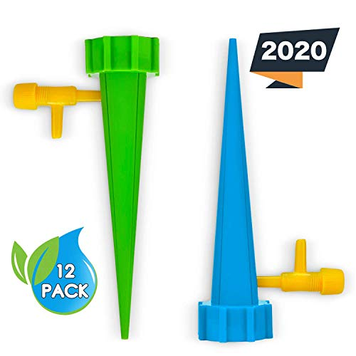 Plant₂O 12 Pack Self Watering Spikes | Plant Watering Spikes | Plant Self Watering Devices | Plant Watering Devices | Plant Self Watering Spikes | Automatic Water for Plants | Watering Stakes |
