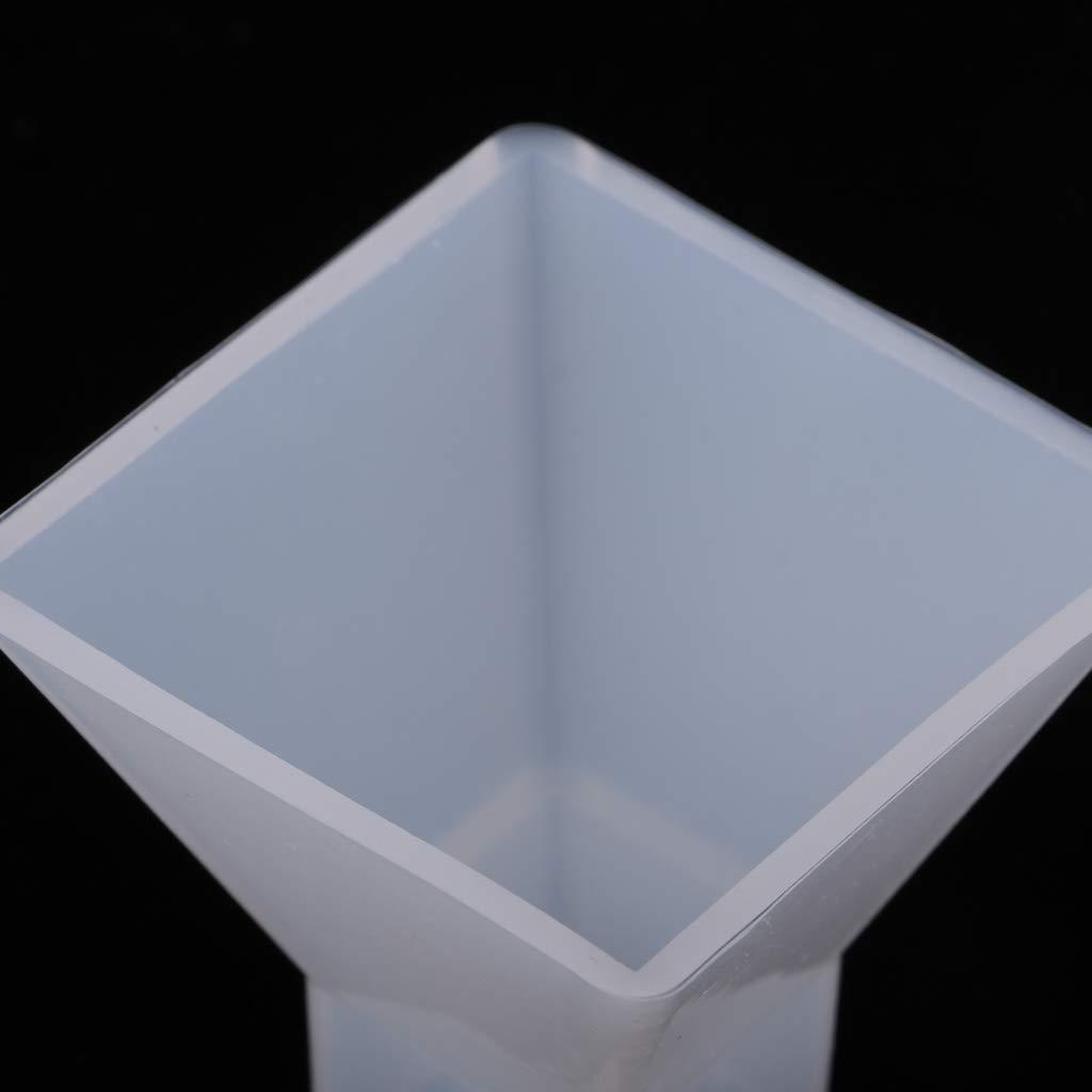 F Fityle Molde de Silicona Forma Piramidal Fondant Torta Modelo Accesorios de Cocina para Proyectos de Manualidades 30x30x30mm
