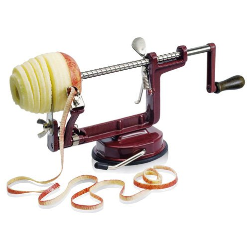 BAUMALU Professionnal Apple Peeling Coring and Slicing Machine Red